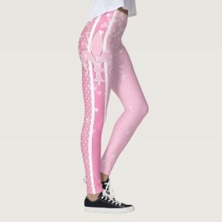Mardi Gras Carnival | Fleur De Lis Girly Pink Leggings
