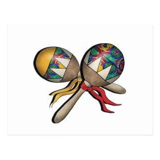 Mardi Gras, Carnival, Tropical Maracas - 01 Postcard