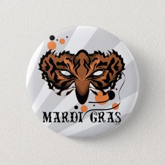 MARDI GRAS CARTOON Standard, 2¼ Inch 6 Cm Round Badge
