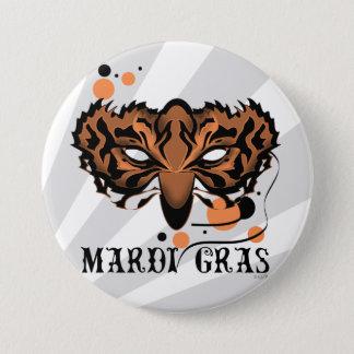 MARDI GRAS CARTOON Standard, 3 Inch 7.5 Cm Round Badge
