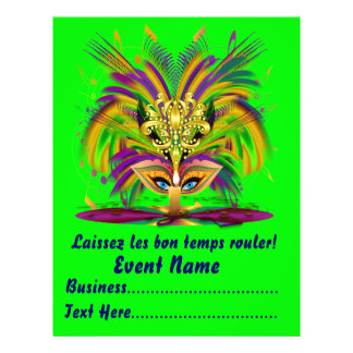 Mardi Gras Carvinal 8 5 x 11 Please View Notes Flyer Design
