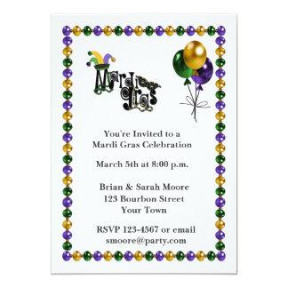 Mardi Gras Celebration Custom Invites