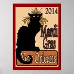 Mardi Gras Chat Noir Poster