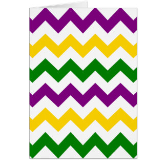 Mardi Gras Chevron Pattern Card