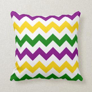 Mardi Gras Chevron Pattern Cushion