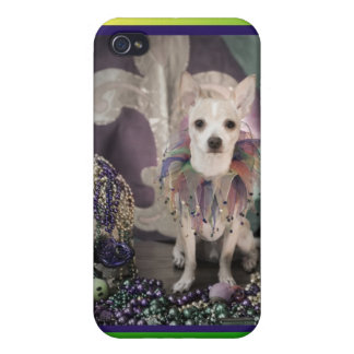 Mardi Gras Chihuahua in Costume iPhone 4/4S Covers