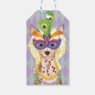 Mardi Gras Chinese Crested Gift Tags