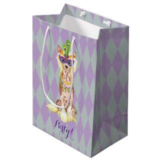 Mardi Gras Chinese Crested Medium Gift Bag