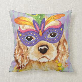 Mardi Gras Cocker Spaniel Cushion