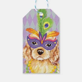 Mardi Gras Cocker Spaniel Gift Tags