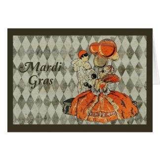 Mardi Gras Costume Couple Card
