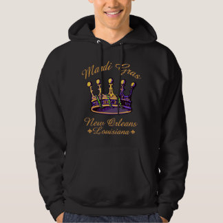 Mardi Gras Crown apparel and gifts Hoodie