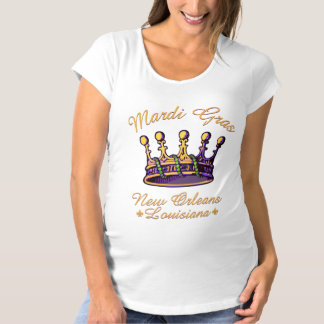 Mardi Gras Crown apparel and gifts Maternity T-Shirt