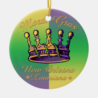 Mardi Gras Crown apparel and gifts Ornaments