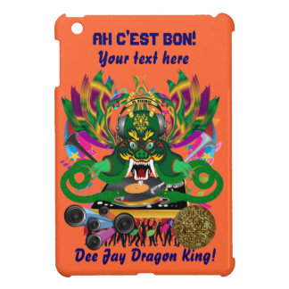 Mardi Gras D. J. Dragon King Important view hints Cover For The iPad Mini