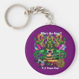 Mardi Gras D. J. Dragon King View Hints please Basic Round Button Key Ring