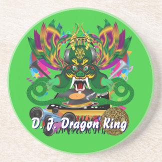 Mardi Gras D. J. Dragon King View Hints please Beverage Coaster