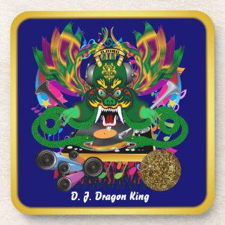 Mardi Gras D J Dragon King View Hints please Beverage Coasters