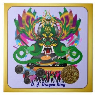 Mardi Gras D. J. Dragon King View Hints please Large Square Tile