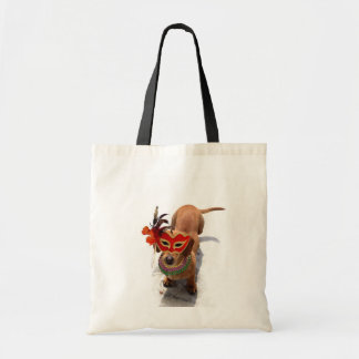 Mardi Gras Dachsund dog Tote Bag