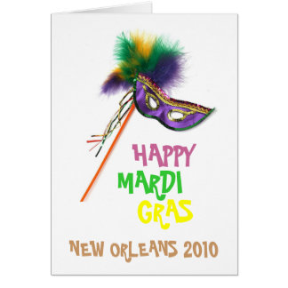 MARDI GRAS DESIGNS CARD