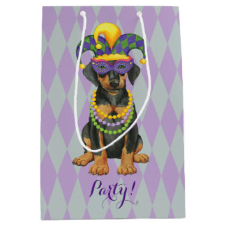 Mardi Gras Dobe Medium Gift Bag