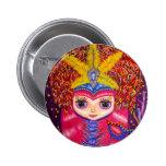Mardi Gras Doll Pinback Button