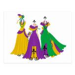 Mardi Gras Dress Shop Postcard