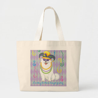 Mardi Gras Eskie Large Tote Bag
