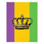 Mardi Gras Flag Crown 21.5 Cm X 28 Cm Flyer