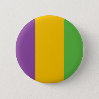 Mardi Gras Flag Crown 6 Cm Round Badge