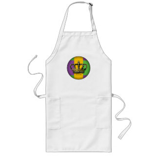 Mardi Gras Flag Crown Long Apron