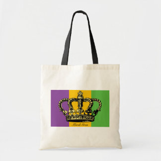 Mardi Gras Flag Crown Tote Bag