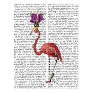 Mardi Gras Flamingo Full Postcard