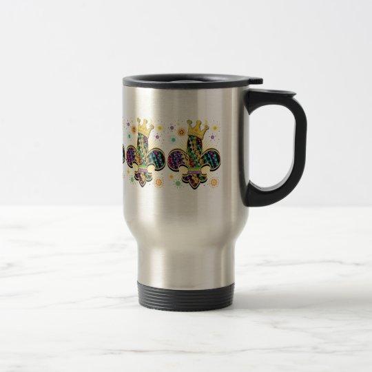 Mardi Gras Fleur Celebrate gifts Travel Mug