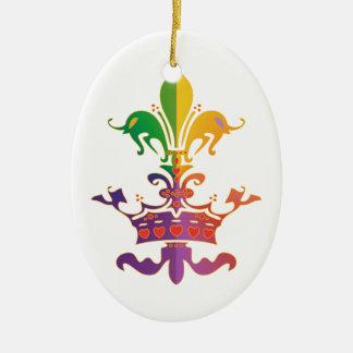 Mardi Gras Fleur de Crown Christmas Ornament
