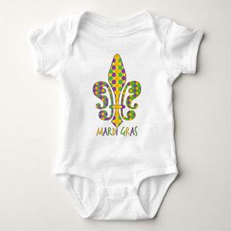 Mardi Gras Fleur de Dots Baby Bodysuit