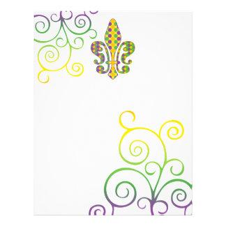 Mardi Gras Fleur de Dots Custom Flyer