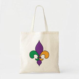 Mardi Gras Fleur de Lis Canvas Bags