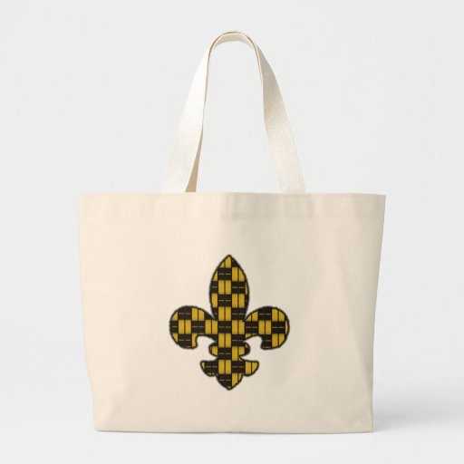 Mardi Gras Fleur De Lis Black Gold Tote Bag