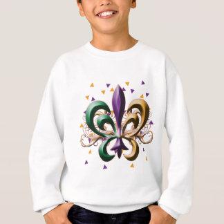 Mardi Gras Fleur de Lis Design Sweatshirt
