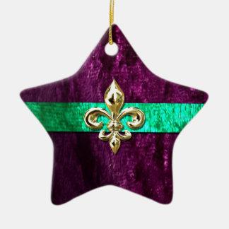 Mardi Gras Fleur De Lis New Orleans Christmas Ornament