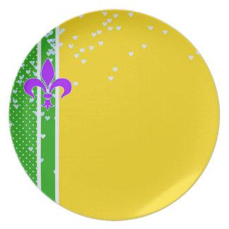 Mardi Gras | Fleur De Lis New Orleans Plate