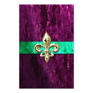 Mardi Gras Fleur De Lis New Orleans Stationery Design
