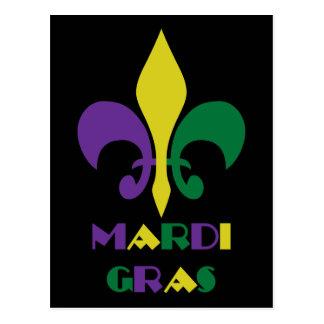 Mardi Gras ~ Fleur De Lis Postcard