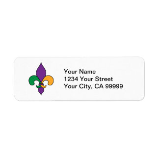 Mardi Gras Fleur de Lis Return Address Labels
