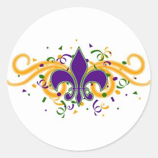 Mardi Gras Fleur-de-Lis Sticker
