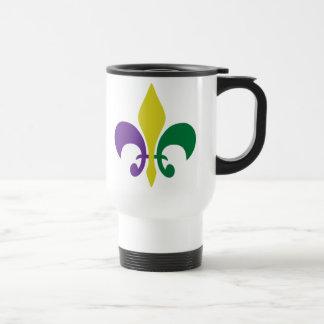 Mardi Gras ~ Fleur De Lis Travel Mug