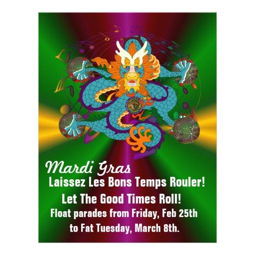 Mardi Gras Custom Flyer