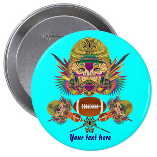 Mardi Gras Football think it's to early view notes 10 Cm Round Badge